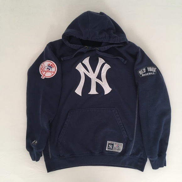 new arrival 33953 56496 Majestic boys' Yankees hoodie, size L